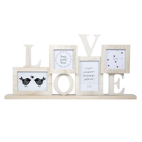 Love 4 Picture Collage Photo Frame