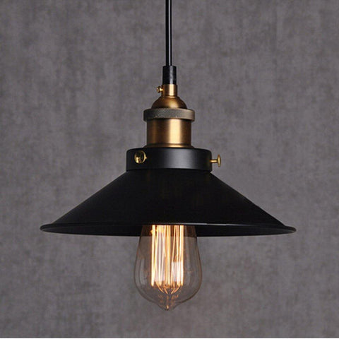 Black Vintage Pendant Light Shade