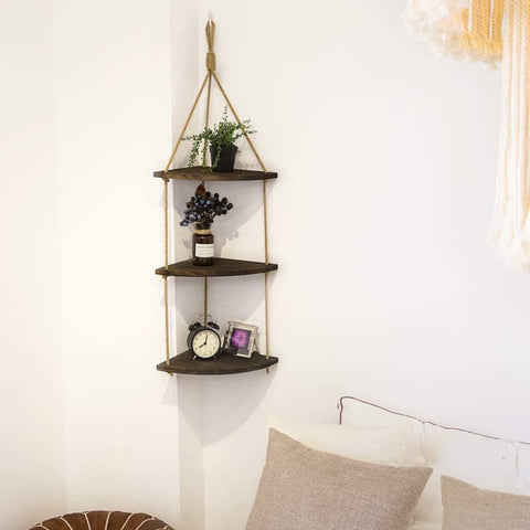 Rope Ladder Corner Shelves