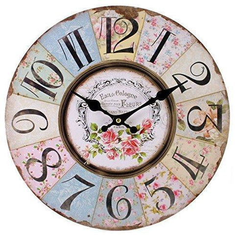 Retro Floral Wall Clock
