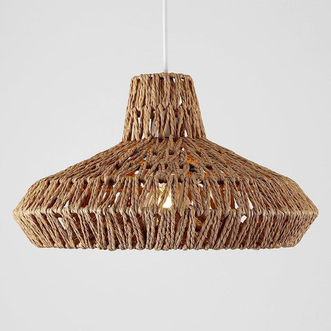 Natural Woven Rope Light Shade
