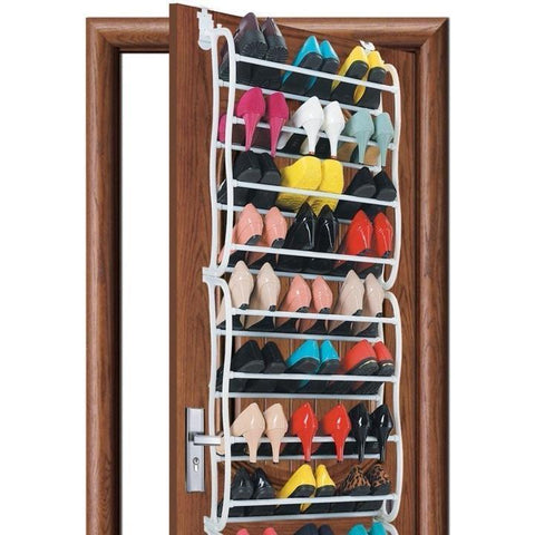 36 Pair Over Door Hanging Shoe Rack