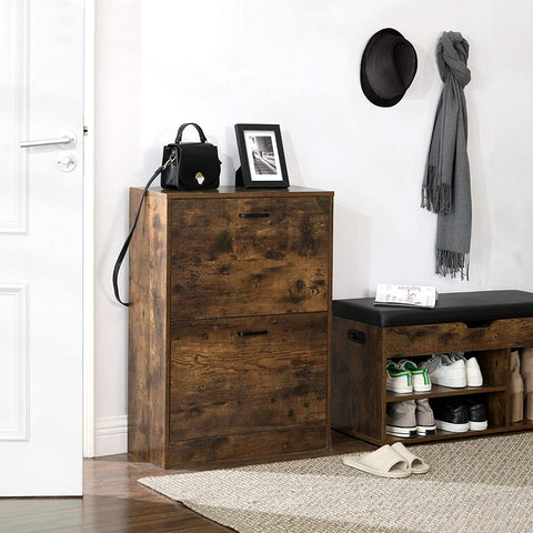 Rustic Shoe Storage Cabinet