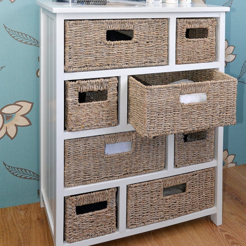 White Storage Chest of Drawers
