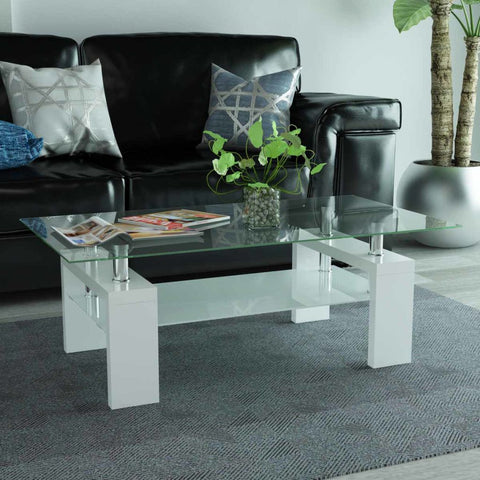 White High-Gloss Coffee Table