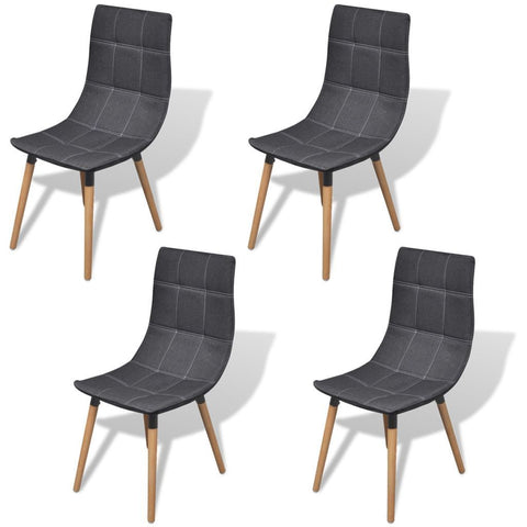 Set of 4 Dark Grey Dining Chairs