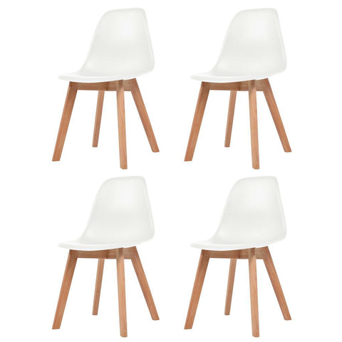 Set of 4 White Dining Chairs