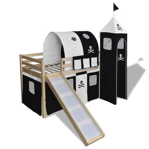 Pirate-themed Loft Bed With Slide Ladder