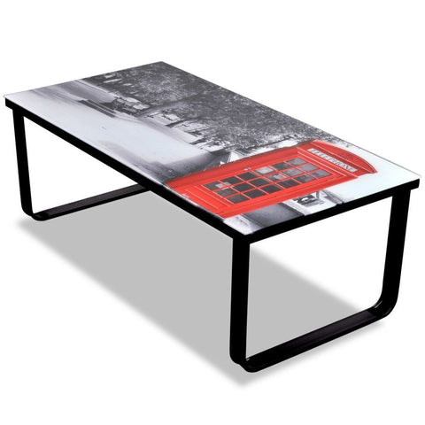 London Inspired Glass Coffee Table