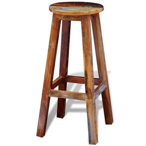 Solid Reclaimed Wooden Bar Stool