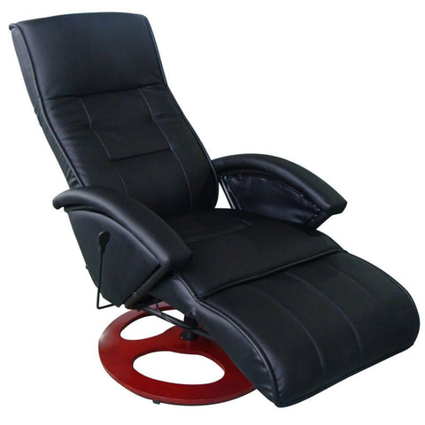 Black Electric Leather Massage Chair
