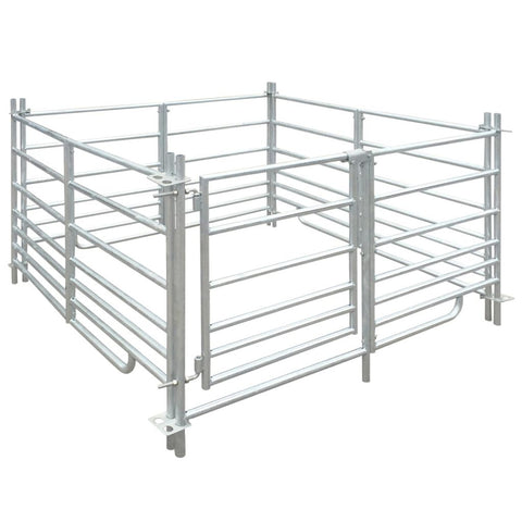 4-Panel Sheep Pen - Galvanised Steel - 137 x 137 x 92 cm