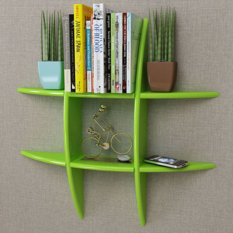 Green Floating Wall Display Shelf