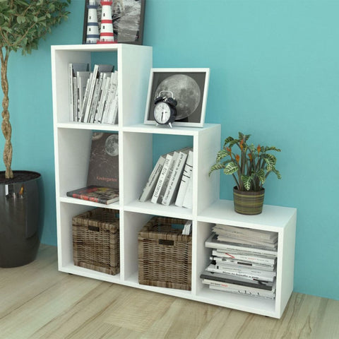 White Staircase Bookcase/Display Shelf