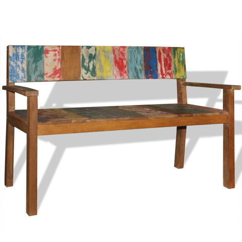 Solid Reclaimed Wood Bench - 120x48x85 cm