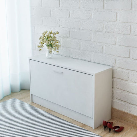 White Shoe Storage Bench