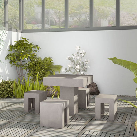 Concrete Outdoor Dining Set