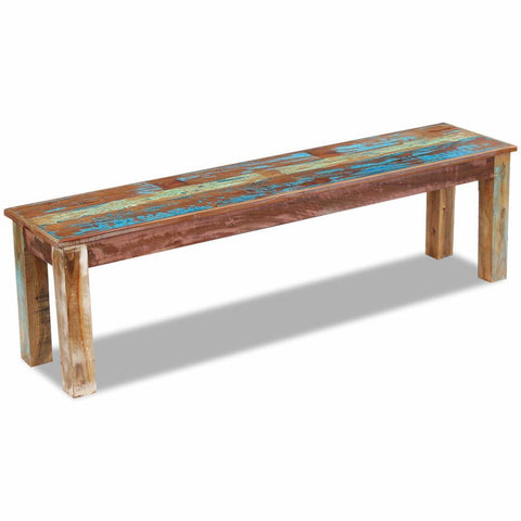 Solid Reclaimed Wood Bench - 160x35x46 cm