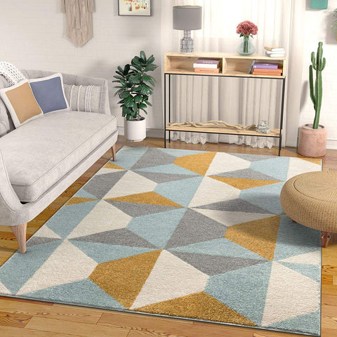 Caltan Gold & Blue Rug