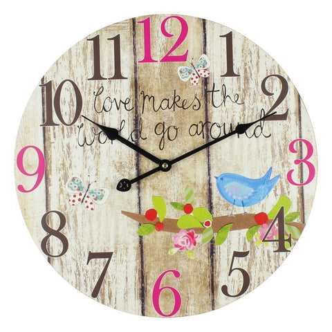 Love Makes the World Go Around Wall Clock