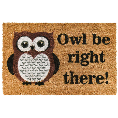 Owl Be Right There Door Mat