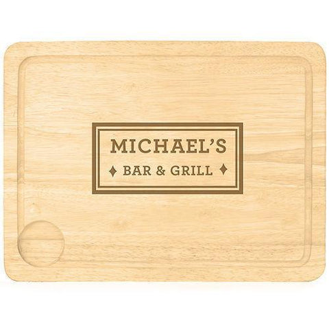 Bar & Grill Personalised Carving Board