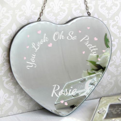 'Oh So Pretty...' Personalised Heart Mirror