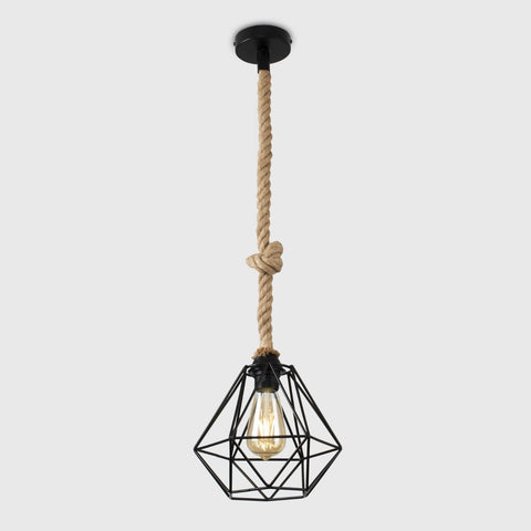 Industrial Rope Ceiling Light & Diablo Shade
