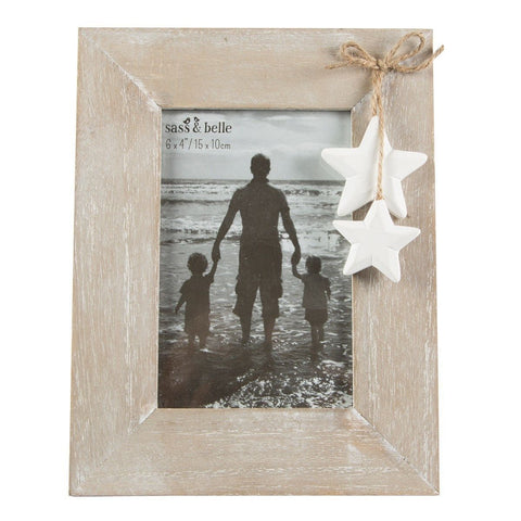 Wooden Star Photo Frame