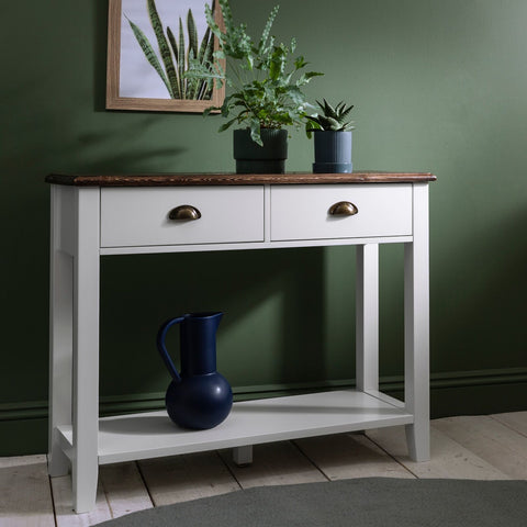 Twin Drawer Console Table