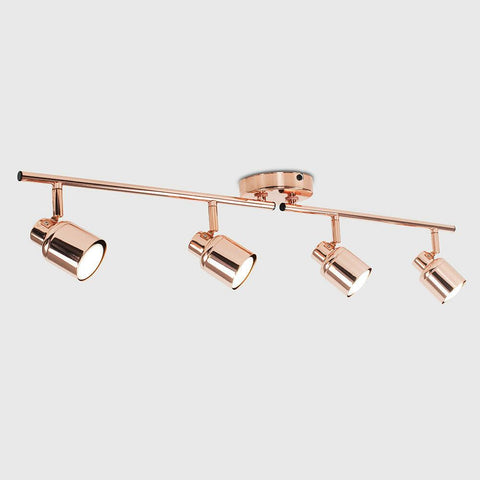 4 Way Spotlight Copper Ceiling Light