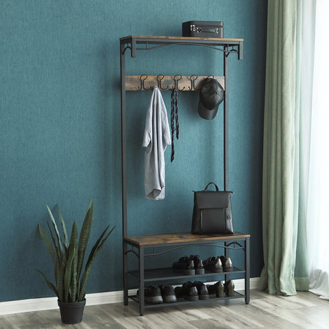 Rustic Brown Coat Stand