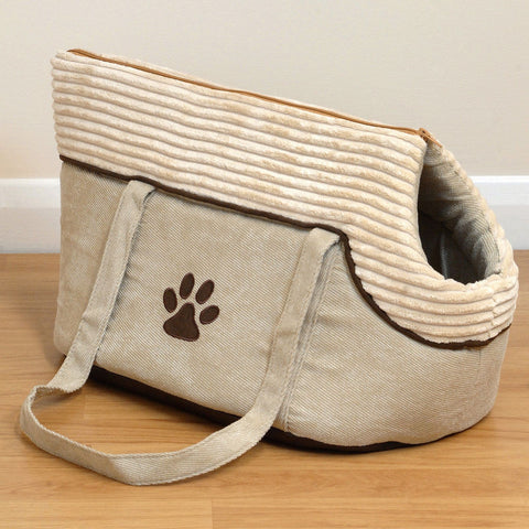 Soft Cream Paw Carry Bag