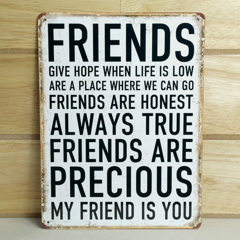 Metal Friends Plaque