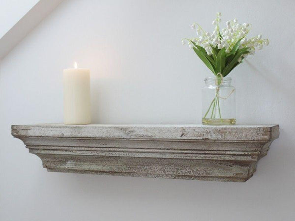 Rustic Floating Wood Shelf