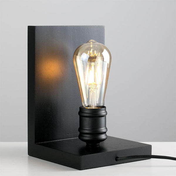 Black Wooden Lamp