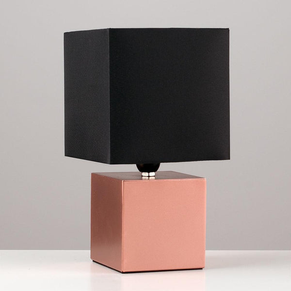 Copper Cube Dimmer Lamp