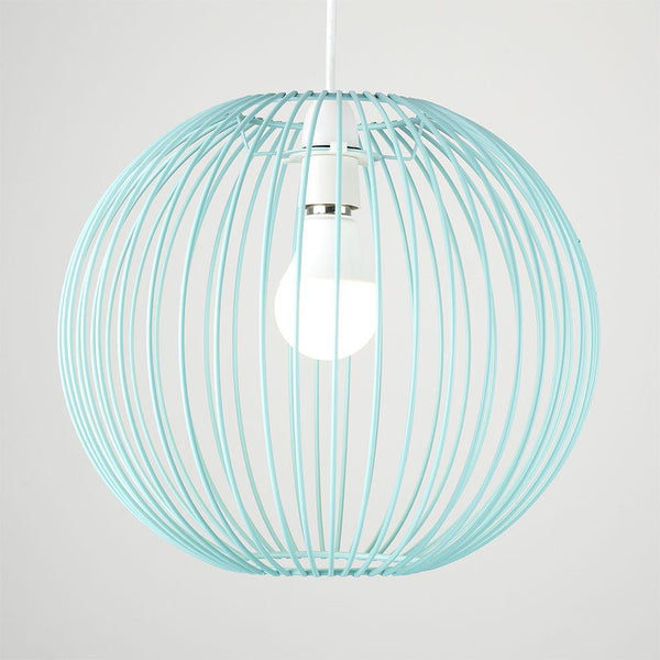 Duck Egg Blue Wire Ball Shade