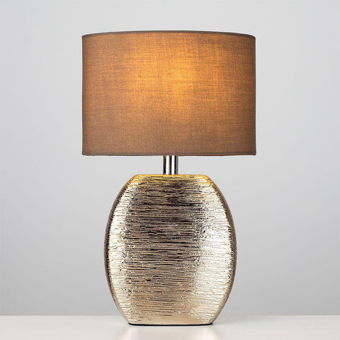 Copper Metallic Ceramic Lamp