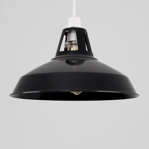 Black Industrial Light Shade