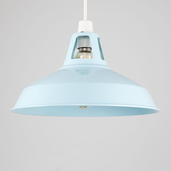 Duck Egg Blue Industrial Light Shade