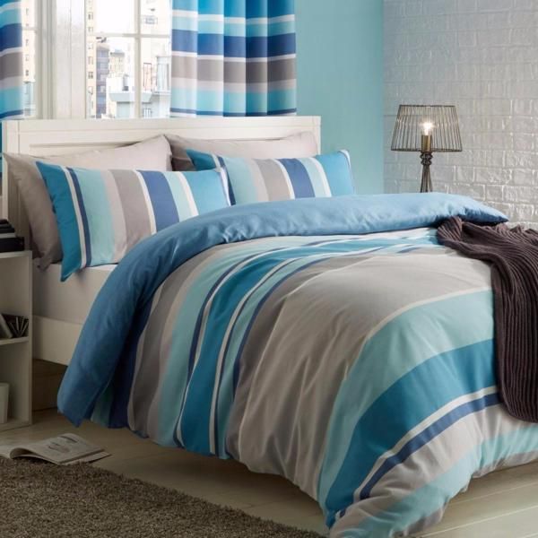 Blue Striped Duvet
