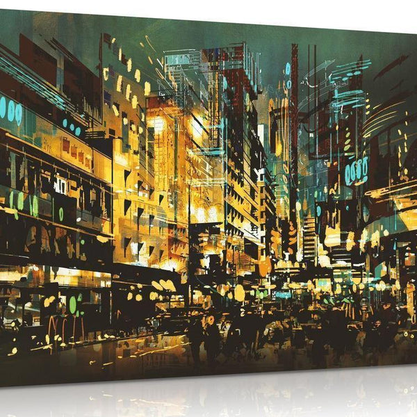 Orleans Night Scene Canvas