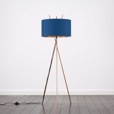 Tripod Copper Floor Lamp