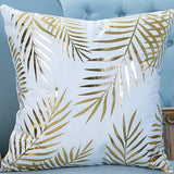 Gold Sparkle Print Cushions