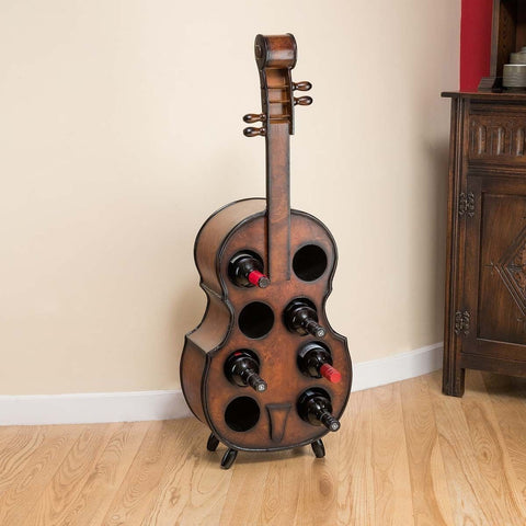 Oak Violin Wine Cabinet