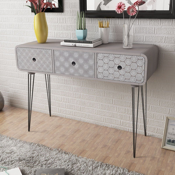 Grey Aztec Cabinet Table