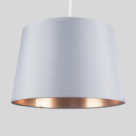 Grey & Metallic Lamp Shade