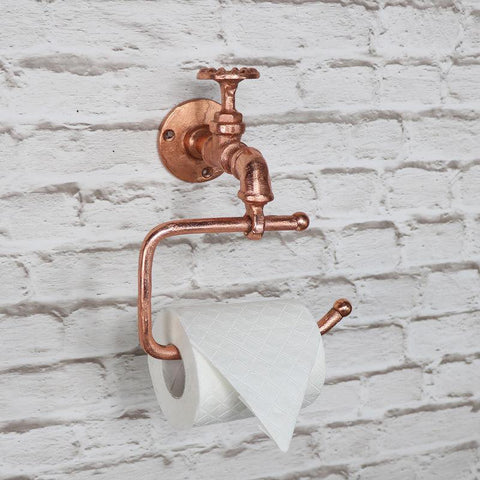 Retro Copper Metal Toilet Roll Holder