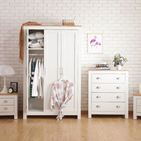White Four Piece Bedroom Furniture Set